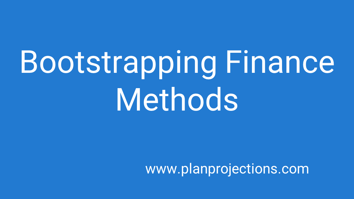 bootstrapping finance methods