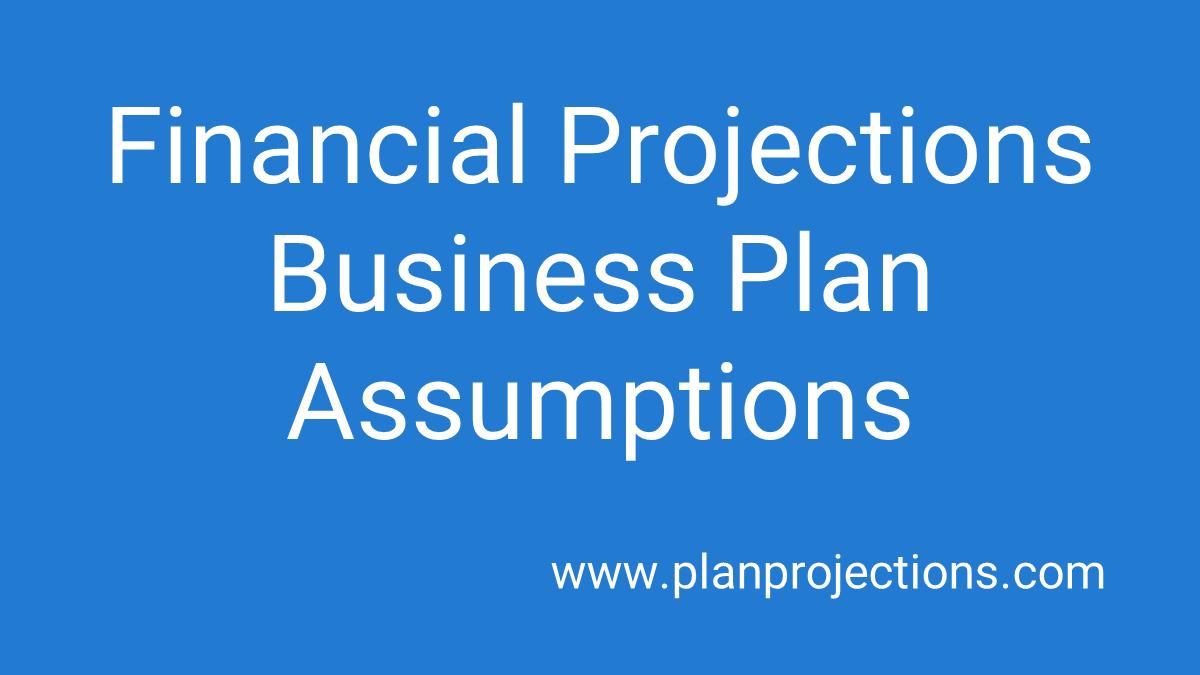 business plan assumptions