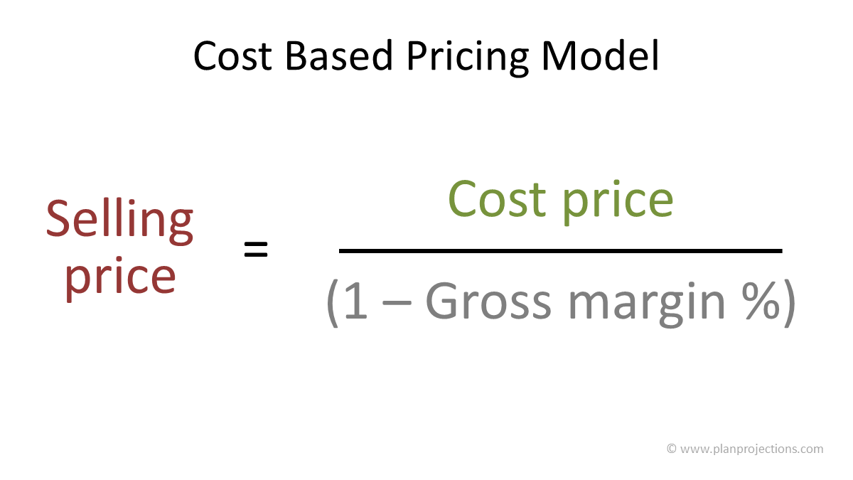 cost based pricing model