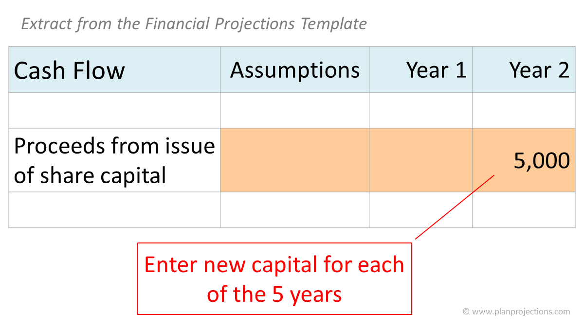 estimate new capital
