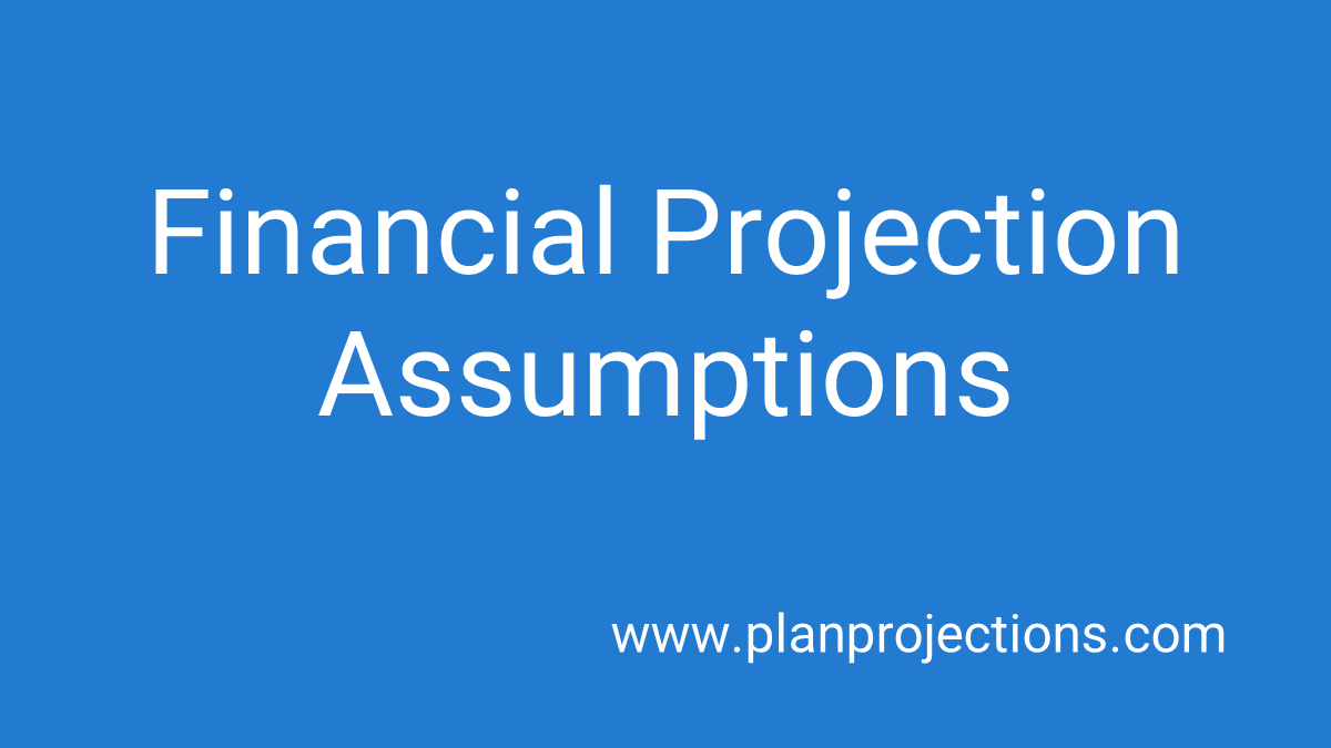 financial projection assumptions