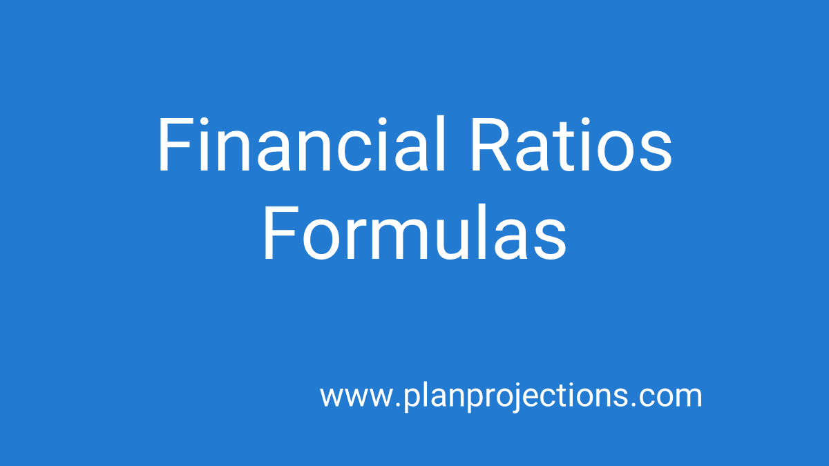 financial ratios formulas
