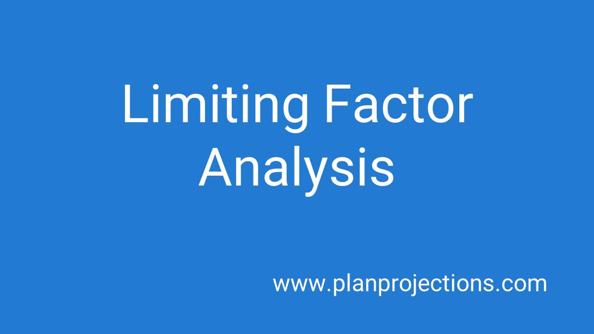 limiting factor analysis