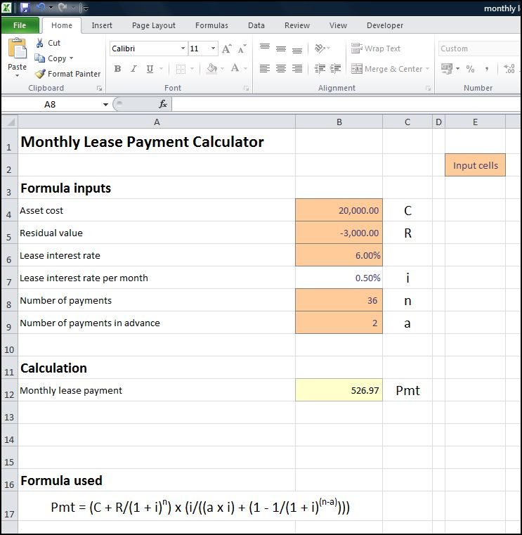 monthly lease payment calculator v 1.1p