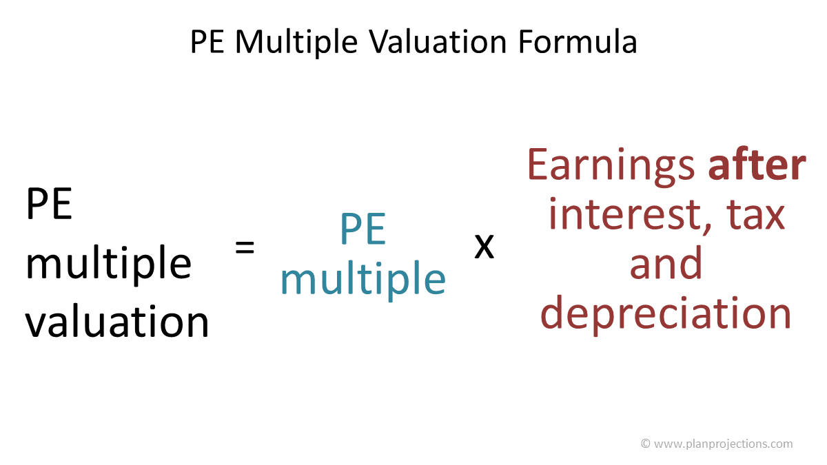 pe multiple valuation formula
