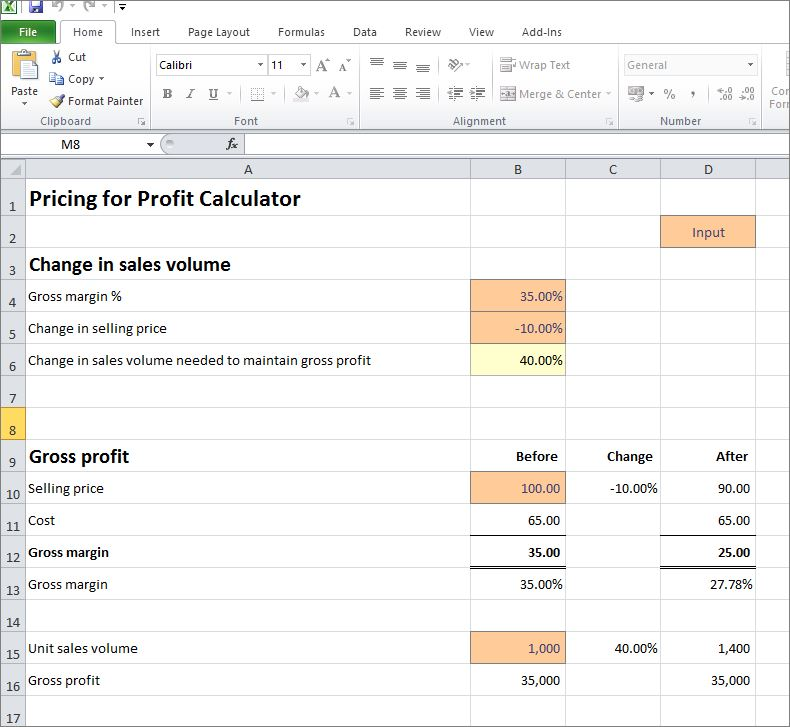 pricing for profit calculator v1.0