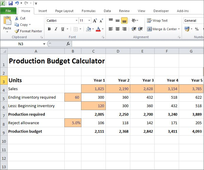 production budget calculator v 1.0