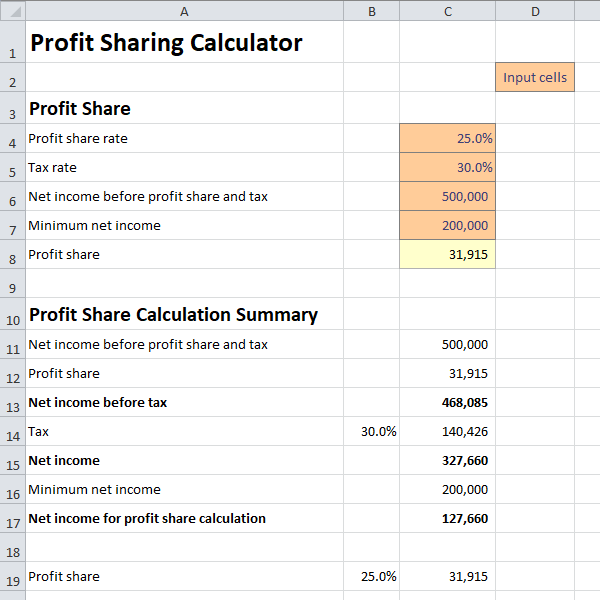 profit sharing calculator v 1.0