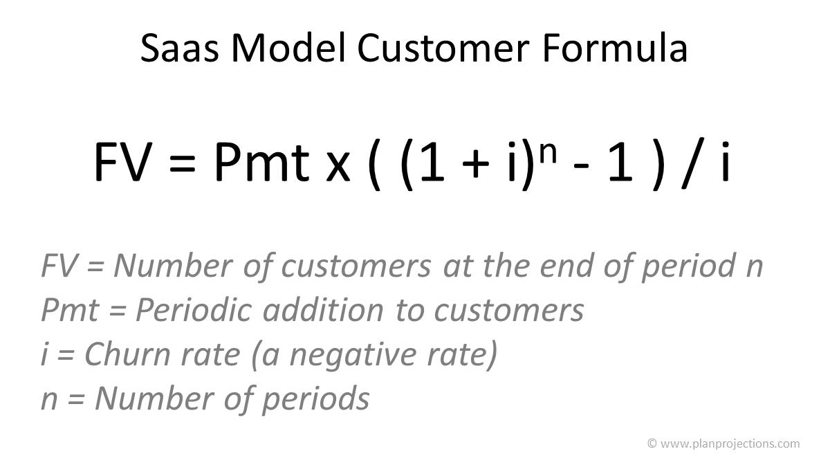 saas model customer formula