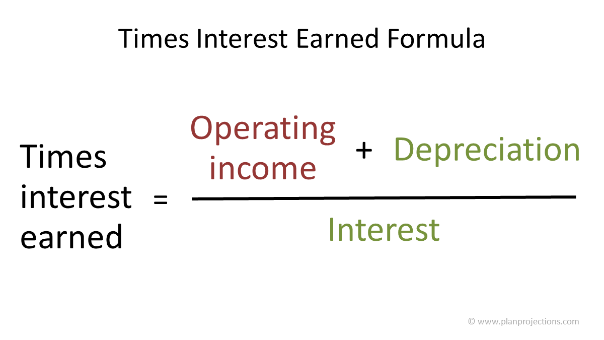 times interest earned formula